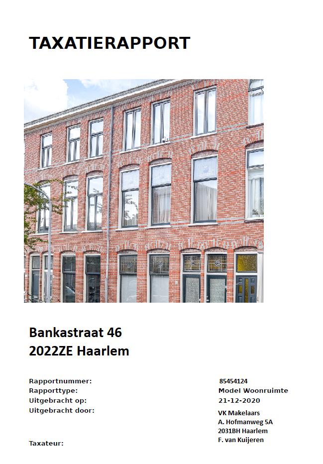 Taxatierapport Haarlem